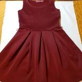 Бордовое платье Boohoo, ориг. Англия, разм. 36 (S). Сост. очень хорошее!
