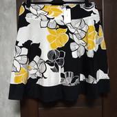 Всё по 100! Фирменная новая красивая коттоновая юбка р.16-18