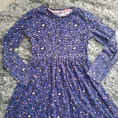 Котоновое платье на девочку 8-9 лет