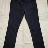 Темно-синие стрейчевые прямые джинсы,m/L