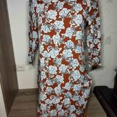 лёгкое яркое натуральное платье. С, М