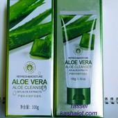 Оригинал!!! Пенка для умывания очищающая Bioaqua Aloe Vera Cleanser в объёме 100 мл!!!