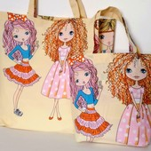 Куколки! Комплект милых сумочек для мамы и дочки!
