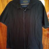 Летняя рубашка р. L-XL цвет синий хамелеон❤️ Смотрим и другие лоты