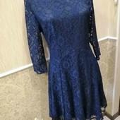 Красивое и нежное кружевное платье размер 46-48