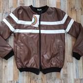 Кожаная куртка для мальчика. 2 модели
