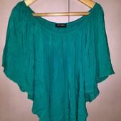 Лёгкая свободная блузка бирюзового цвета