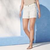 Джинсовые шорты белые c вышевкой 40 euro, Esmara, германия