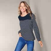 Комфортная блуза - рубашка с вышивкой из смеси хлопка и вискозыTchibo (Германия) 36 евро