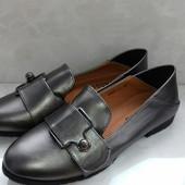 Удобные женские туфельки 38р=25см. Отличное качество.