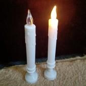 Высокая свеча Led./1шт.25см/Дарит уют и тепло