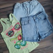 Продам джинсовые шорты и майку