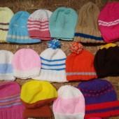 Пакет шапочекНовые шапки вязанные от 0-12мес. Можно для куклы. Любая по вашей ставке,можно докупить.