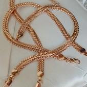 18 см! шикарный широкий браслет, оригинальное плетение, ширина 6.5 мм, позолота 585 пробы