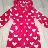 Плюшевый халат на девочку 5-6лет замеры на фото