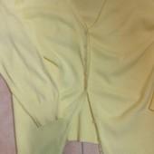 Кардиган желтого цвета