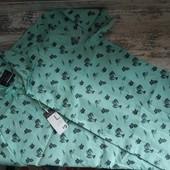 Хлопковая фирменная рубашка, размер L
