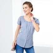 Романтическая блуза - рубашка в клетку из био-хлопка от Tchibo(германия) размер 42 евро=48