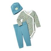☘ Якісний комплект для малюків: боді+ штанці+шапка, бавовна, Tchibo (Німеччина), р.: 86/92