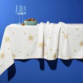 Большая праздничная скатерть с узором от Tchibo(Германия), размер: 275 x 155 см