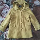 Пальто весна- осень горчичного цвета