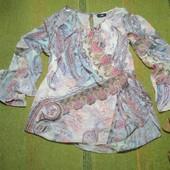 Блузочка из мягкого шифона. Большой размер