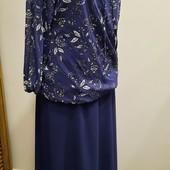 Легкий струящийся тандем, Стильная нейлоновая блуза рубашка на подкладке,юбка в подарок.Модный принт