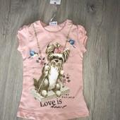 Классная футболка на малышку 1,5-2 годика