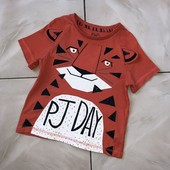 Стоп ) тигренок,с ушками)❤ Фирменная футболочка с ярким принтом,2-3 годагода❤ Много лотов!