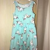 Ніжна бавовняна сукня на вік 4-6 років 110-116см