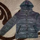 Новая курточка хамелеон на девочку р.128-134