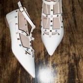 Белая обувь. туфли балетки Atmosphere