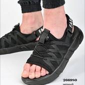 Функциональные черные мужские спортивные сандалии. Качество!