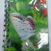 Два Блокнота Бабочки, Подводный Мир 100 листов 10,5 х14,5 см, двойная спираль Schreiber