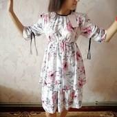 Легкое летнее платье-46-50р