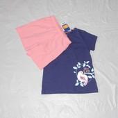 р. 110-116, летний костюм пижама для девочки Lupilu, Германия