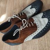 Яркие туфли из кожи и замши от Office London 44р