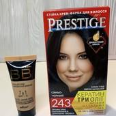 Лот 2 ед. краска Prestige 243 иссиня-чёрный, ВВ крем Bielita