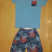 Без дефектов! Лёгкия хлопковая пижама, дом костюм!13-14 л и р 158-164 см!