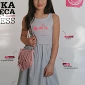 Блиц! классное платье Фламинго YoungStyle! На 11 лет, рост 146! из Польши! замеры! хлопок!