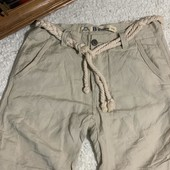 ❤️BBurns оригинал❤️фирменные шорты с поясом смесовый ЛЁН с хлопком кэжуал стиль размер 29