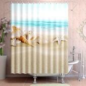 шторка для ванной комнаты на 12крючков с фиксаторами .180*180см.фото2.3