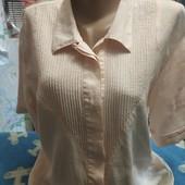 Блузка кремового цвета из льна на XL