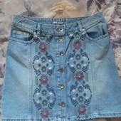 Классная джинсовая юбка р.М-L (12-14)