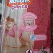 Памперсы подгузники Huggies трусики для девочек