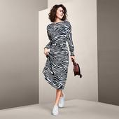 Нюанс!!!Шикарное легкое платье, длинна миди в дизайне зебры от Tchibo размер евро 42 (укр 48)