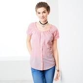 Клетчатая блузка- рубашка из био-хлопка от Tchibo(германия) размер 46 евро=52