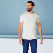 качественная мужская футболка хлопок белая рукав с подворотом livergy германия р. l 52/54 евро