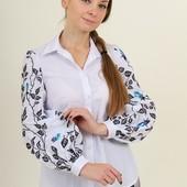 """Очень красивая блуза вышитая в школу или офис.Вишиванка """"офісна красуня"""""""