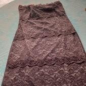 Гипюровое платье без плечиков 42-44